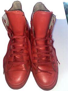 CONVERSE RED RUBBER UNISEX HI TOP CHUCK TAYLOR BOOTS UK8 EU41.5