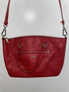 Coach Women's Red Leather Prairie Satchel Shoulder Bag