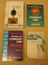 Company Law Text Book, collection of four books