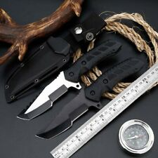 """8"""" Fixed Blade Knife Tactical Pocket Tanto Camping Hunting EDC With Sheath"""