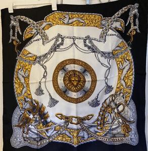 Wathne - Hand Rolled Silk Baroque Lion Head Scarf