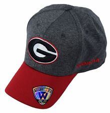 1a8c25c389a NCAA Georgia Bulldogs Top of the World 1Fit Adult Cap Hat Grey