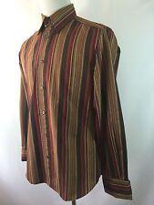 D&G Dolce & Gabbana Men's 36 M (50) Striped French Cuff Long Sleeve Shirt