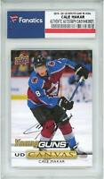 Cale Makar Avalanche Signed 2019-20 UD Series One Young Guns Canvas Rookie Card