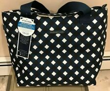 Dabney Lee Can Food Beer and Wine Cooler Tote Cooler Navy Gingham Brand New
