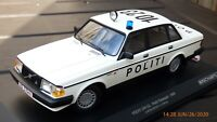 Minichamps 1/18 1986 Volvo 240 GL Politi Denmark Police Toy Model Car Limited