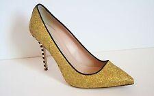 JCrew Collection Roxie Glitter Pumps 9.5 Yellow Gold High-Heels