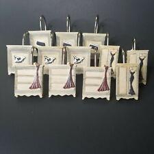 12pc Set FashionShower Curtain Hooks  Purse Shoes Dresses Resin