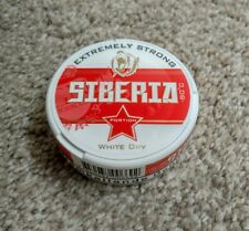 """Brand New Factory Sealed Siberia -80c White Dry Portion """"empty""""-snus (1 Can)"""