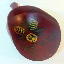 Antique Vintage TOLE Metal Scoop Handpainted Folk Art Primitive