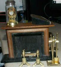 "Vintage ""Mini-Land"" Miniature Fireplace Accessory Set 4861 MSR Dollhouse"