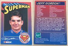 1999 Hasbro Nascar Winner's Circle Superman Racing Jeff Gordon Trading Card