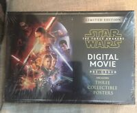 Star Wars: The Force Awakens Limited Edition Digital Movie Pre-Order NEW SEALED