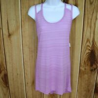 Champion Duo Dry Activewear Tank Top Womens  XXL Purple Long Sleeveless Stripes