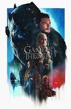 Game of Thrones Art Poster Season 8 Jon Snow Daenerys Night King - 11x17 13x19