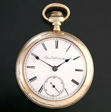 Elgin Pocket Watch Ca1916   Yellow Gold Filled 18 Size Case 17 Jewel