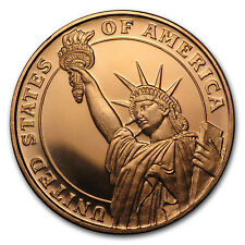 1/2 oz Copper Round - Statue of Liberty (20 count tube) - SKU #87419