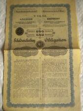 Vintage share certificate Stocks bonds actions Austrian state railways 1901 500F