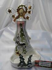 Heather Goldminc Angel Tea Light Candle Holder 2009 Blue Sky Christmas