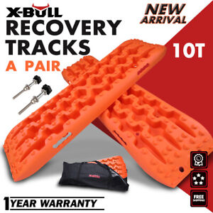 X-BULL Sand Tracks Recovery Tracks Traction Off Road Snow Tire Ladder Orange 4WD