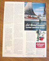 1954 Johnson Boat Motor Ad  Get Aboard