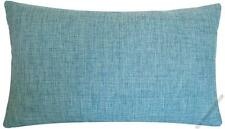 Aqua Blue Cosmo Linen Decorative Throw Pillow Cover / Cushion Cover 12x18""
