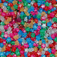 Star shaped Pony Beads Multi Translucent with Glitter Sparkle for crafts kandi