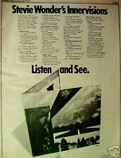 1973 Stevie Wonder R&B Soul Music Memorabilia Record/Album Promo Trade Print Ad