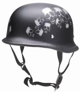 Redbike RK305 half-Shell Motorcycle Biker Helmet Steel Helmet Skull