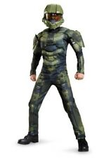 NEW Costume Boys HALO MASTER CHIEF CHEIF 3D JUMPSUIT MEDIUM 7-8