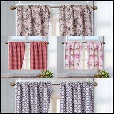 "2Pc Small Printed Panel Window Dressing Curtain Treatment(warda )36""L rod pocket"