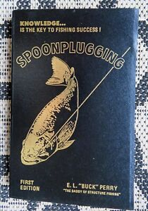 "Spoonplugging by E.L. ""Buck"" Perry  Fishing -Lures First Edition Book"