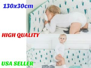 Newborn Crib Bumpers Pads for Infant Baby Bumper Safe Thick Padded Washable Cot