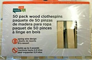 Honey Can Do! Wooden Spring Clothespins Lot of 1 - 50 Count Free Shipping