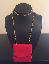 Very Rare Red Chanel Purse Chain Necklace