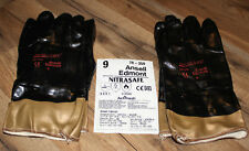 NitraSafe Size 9 Nitrile Coated Made w Kevlar Ansell Edmont Safety Gloves 2 PAIR