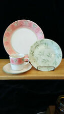 Corelle Pink Foral Green Trim Heirloom Bloom Plate Cup Saucer Buy By The Piece