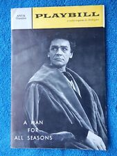 A Man For All Seasons - ANTA Theatre Playbill - January 8th, 1962 - George Rose