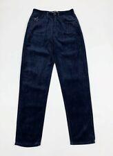 Blumarine pantalone donna usato velluto vintage W28 tg 42 mom boyfriend T6218