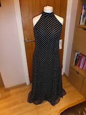 Long prom dress Consortium 14 brand new with tags spotted halter neck bnwt
