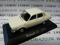 RBA12M voiture 1/43 RBA Italie IXO : RENAULT 12 1970 blanche
