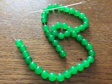 JADE GREEN GEMSTONE BEADS approx 39CM string  x 8mm beads