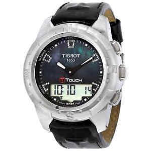 Tissot T-Touch II Black MOP Unisex Watch T0472204612600