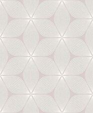 CWV Vibration Mink Silver Glitter Retro Floral Textured Vinyl Wallpaper (M1022)