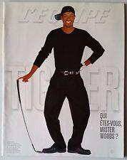 L'Equipe Magazine 31/03/2001; Tiger Woods/ Ryan Giggs/ Federer/ Mika Häkinen