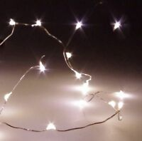 1M 10er LEDs Lichterkette Draht Micro warmweiß, Batteriebetrieb XY