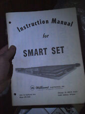 Pinball Smart Set Original Manual Williams Flipper inc schematics  RARE