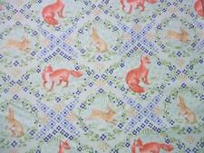 Wildwood Fox and Hare Rabbit Diamond Cotton Ana Davis Fabric Yard