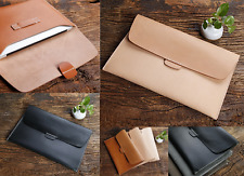 file cover pocket cow Leather Messenger bag Briefcase laptop Pouch handmade A612