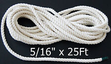 "Twisted Cotton Rope 5/16"" for bird parrot toys Amazon African Grey Cackatoo"